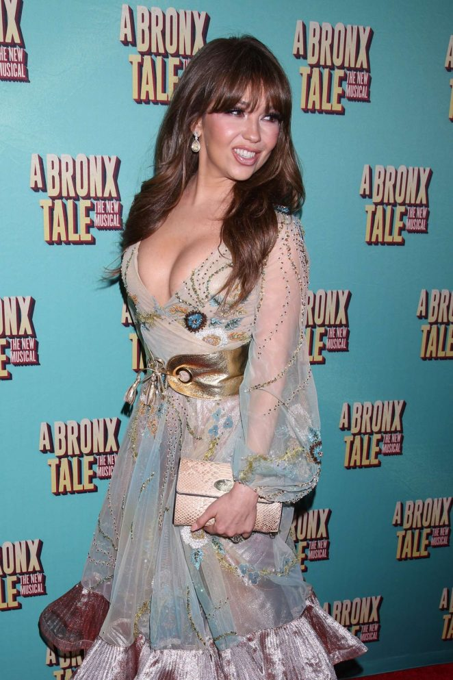 Thalia – Opening night of A Bronx Tale at the Longacre Theatre in NY