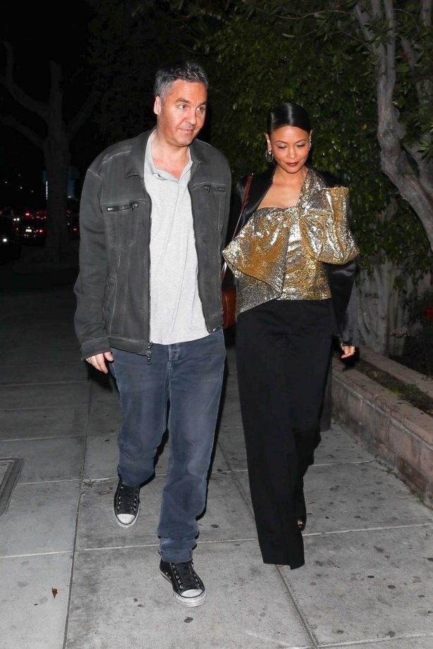 Thandie Newton and her husband Ol Parker - Night out in Beverly Hills