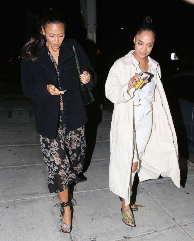 Thandie Newton and Tessa Thompson – Night out in Beverly Hills
