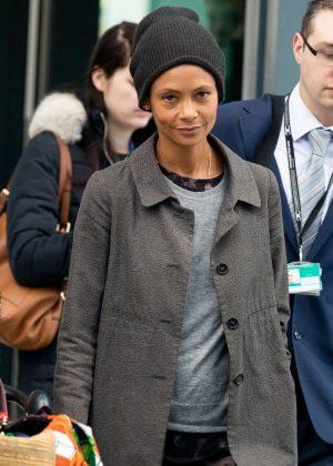 Thandie Newton - Arriving at Heathrow Airport in London