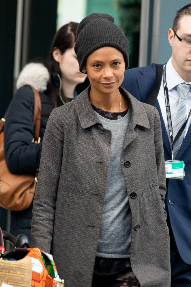 Thandie Newton - Arriving at Heathrow Airport in London