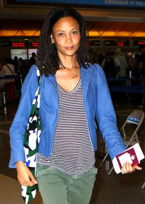 Thandie Newton at LAX Airport in Los Angeles