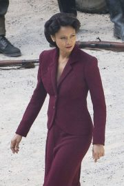 Thandie Newton - Filming the new series of tv show Westworld in Spain