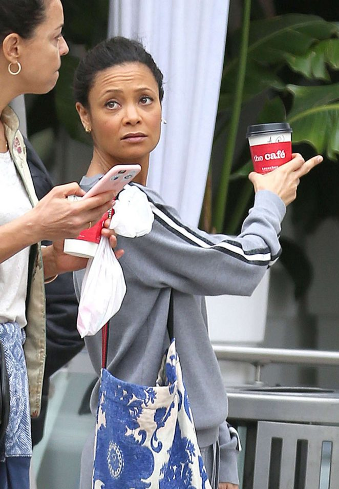 Thandie Newton out and about in LA