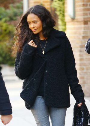 Thandie Newton - Out in New York