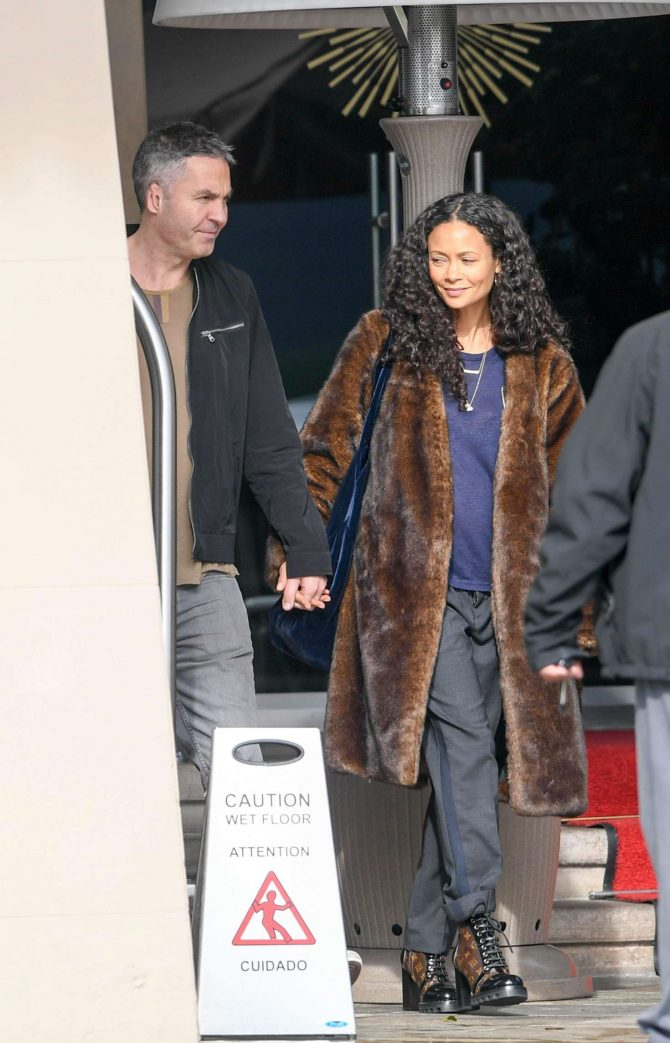 Thandie Newton – Out of her hotel in Beverly Hills