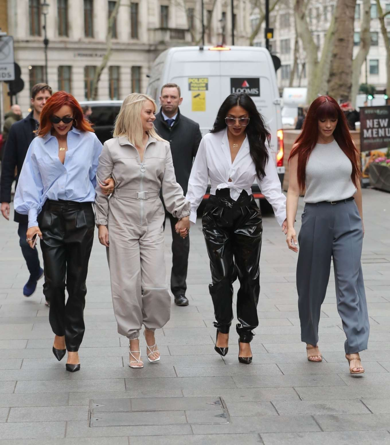 The Pussycat Dolls - Arrive at the Global Radio Studios in London