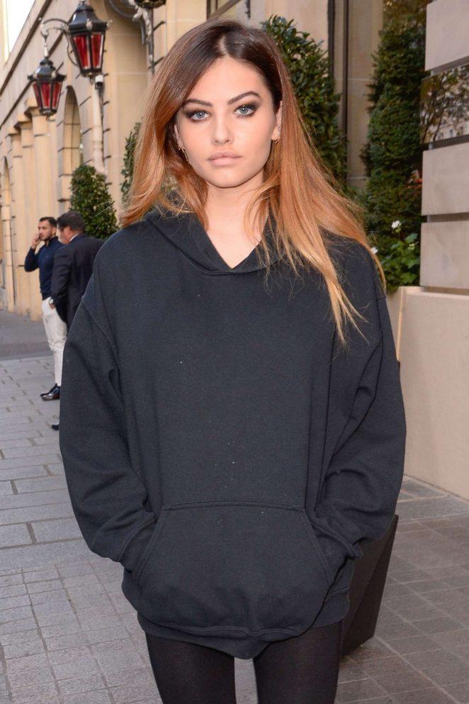 Thylane Blondeau - Arriving at her hotel in Paris
