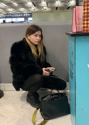 Thylane Blondeau at Orly Airport in Paris