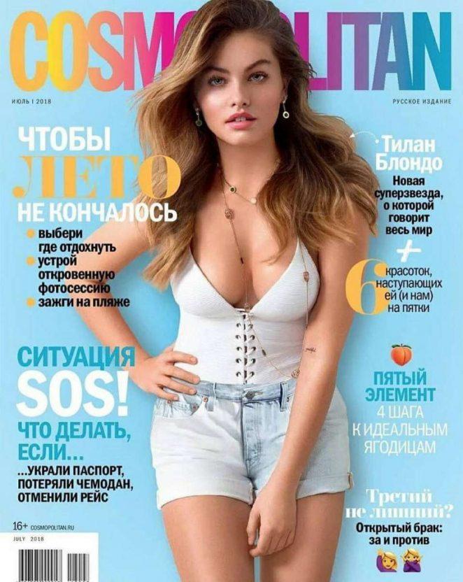 Thylane Blondeau - Cosmopolitan Russia Cover Magazine (July 2018)