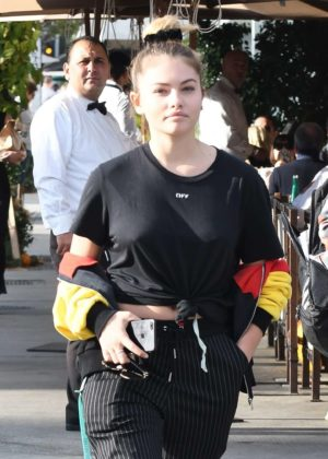 Thylane Blondeau grabs lunch at Il Pastaio in Beverly Hills