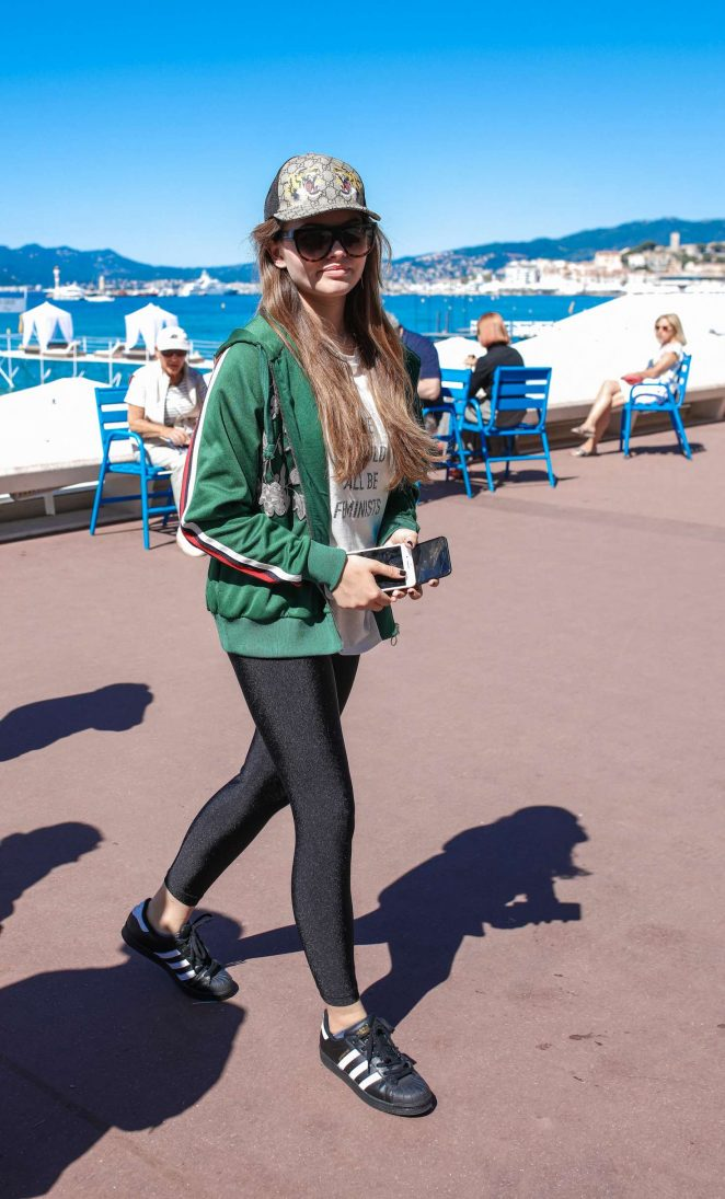 Thylane Blondeau in Tights out in Cannes