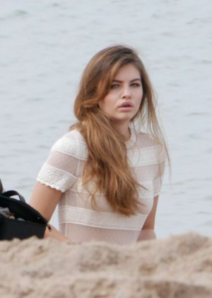 Thylane Blondeau - On set of a photoshoot in Cannes