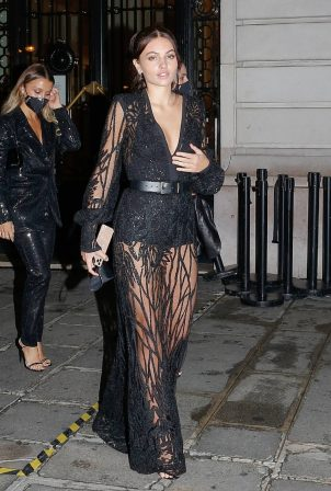Thylane Blondeau - Seen leaving the Etam show at Paris Fashion Week 2020