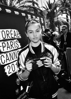 Thylane Blondeau with fans at L'Oreal Paris Event 2016 in Cannes