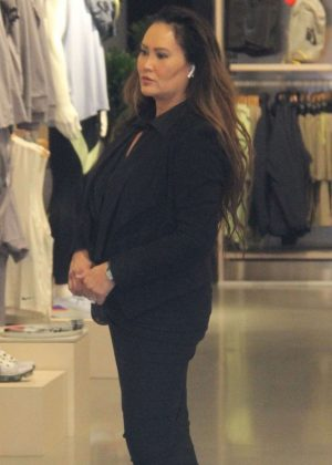 Tia Carrere - Shopping at Nike in Beverly Hills