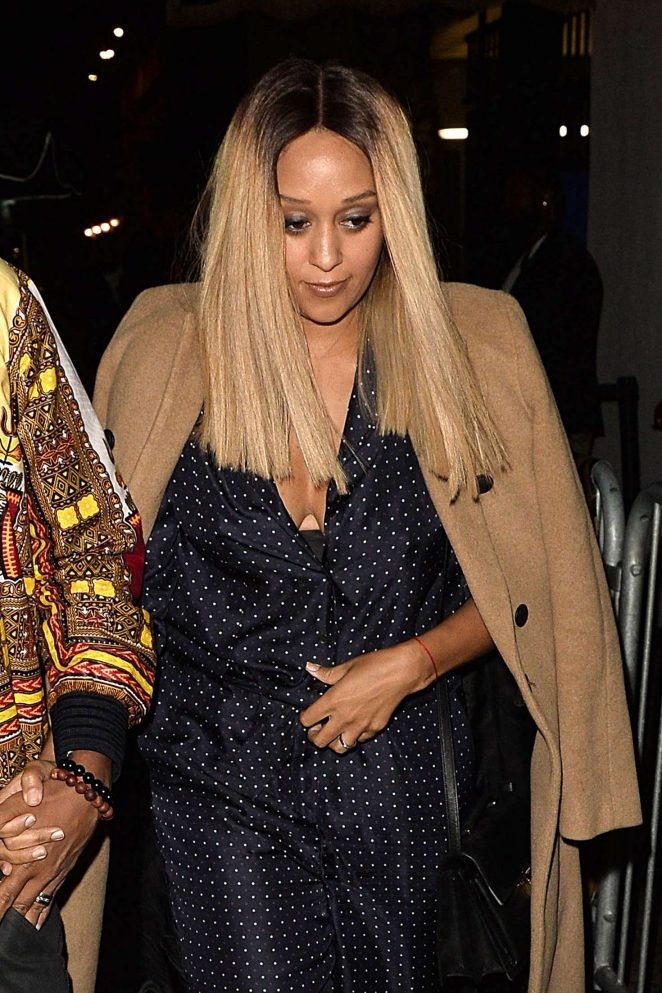 Tia Mowry at Ashlee Simpson's 32nd Birthday Party in West Hollywood