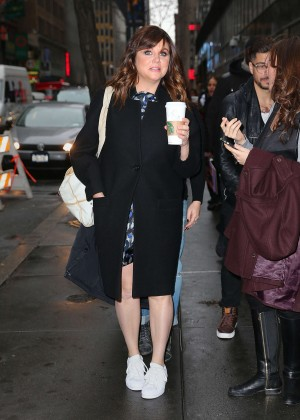 Tiffani Thiessen Arrives at the Today Show in New York