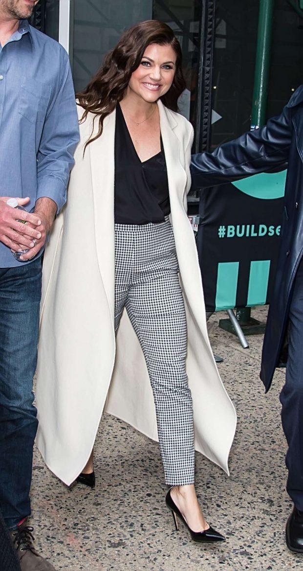 Tiffani Thiessen - Seen seaving BUILD Series in New York City
