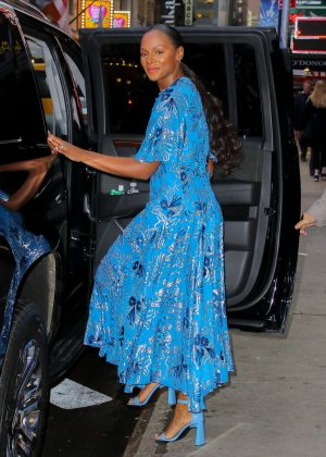 Tika Sumpter - Leaving the Good Morning America in NYC