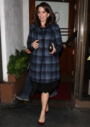 Tina Fey at Madeo restaurant in West Hollywood