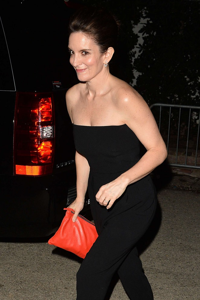 Tina Fey - Leaves a Pre Oscar Talent Agency Party in Los Angeles