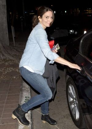 Tina Fey Leaving Madeo Restaurant in Beverly Hills