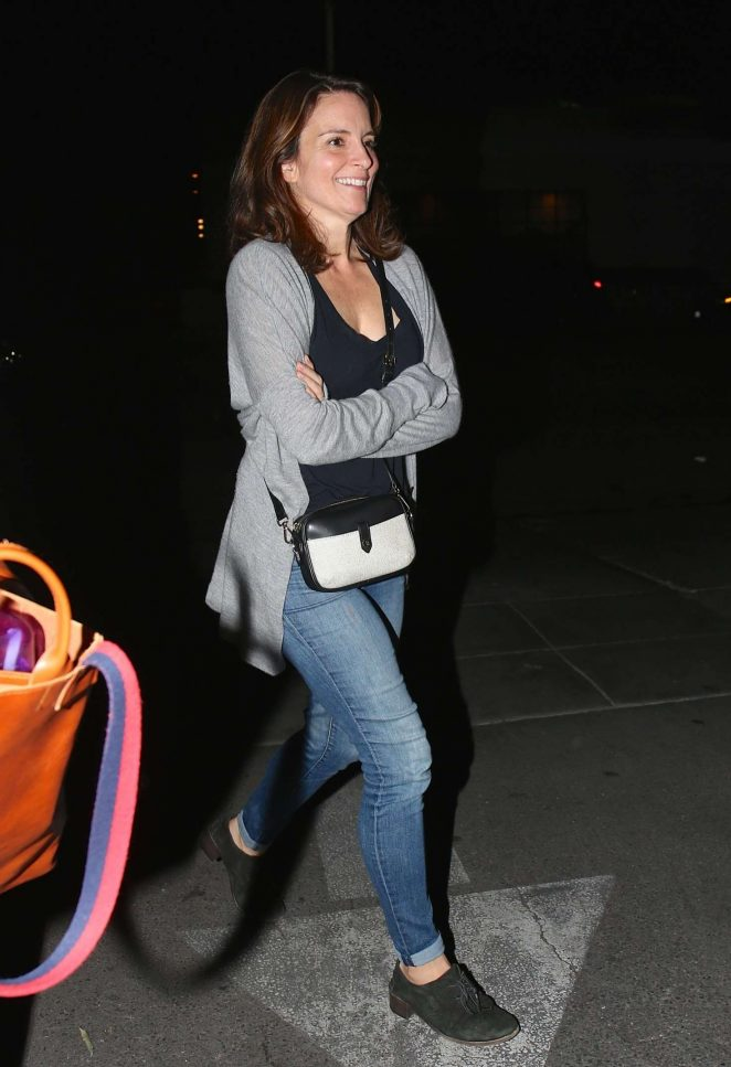 Tina Fey – Leaving Matsuhisa in West Hollywood