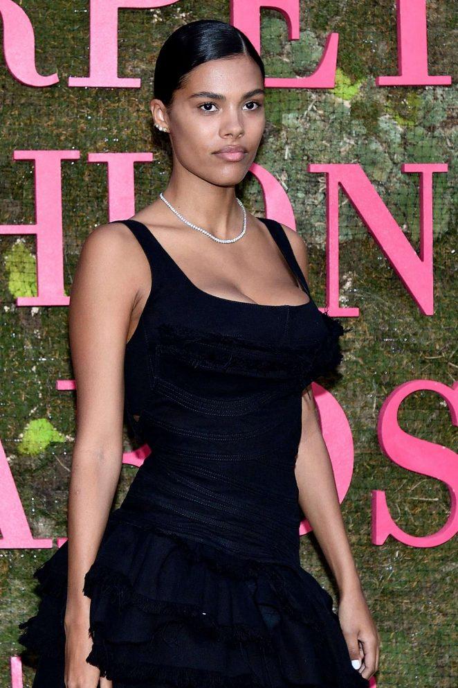 Tina Kunakey – Green Carpet Fashion Awards 2018 in Milan