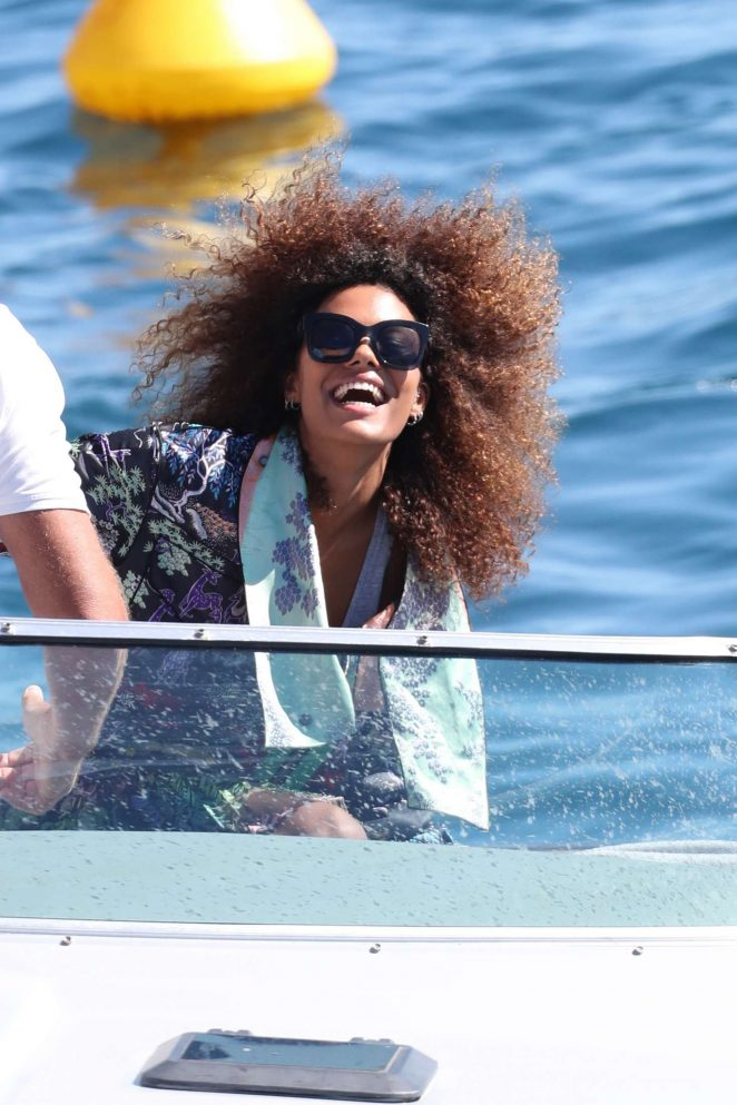 Tina Kunakey out in Cannes