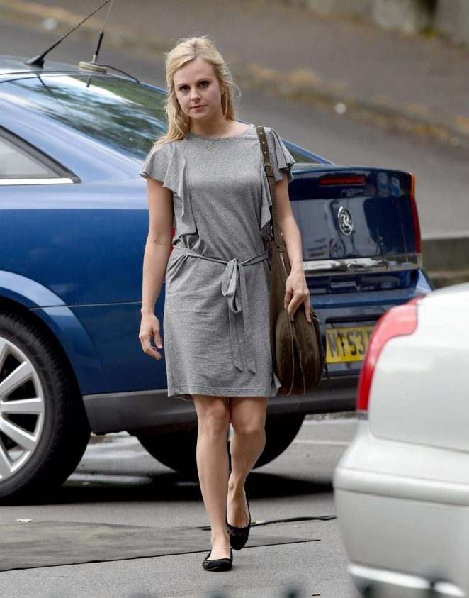 Tina O'Brien on Set of 'Coronation Street' in Manchester
