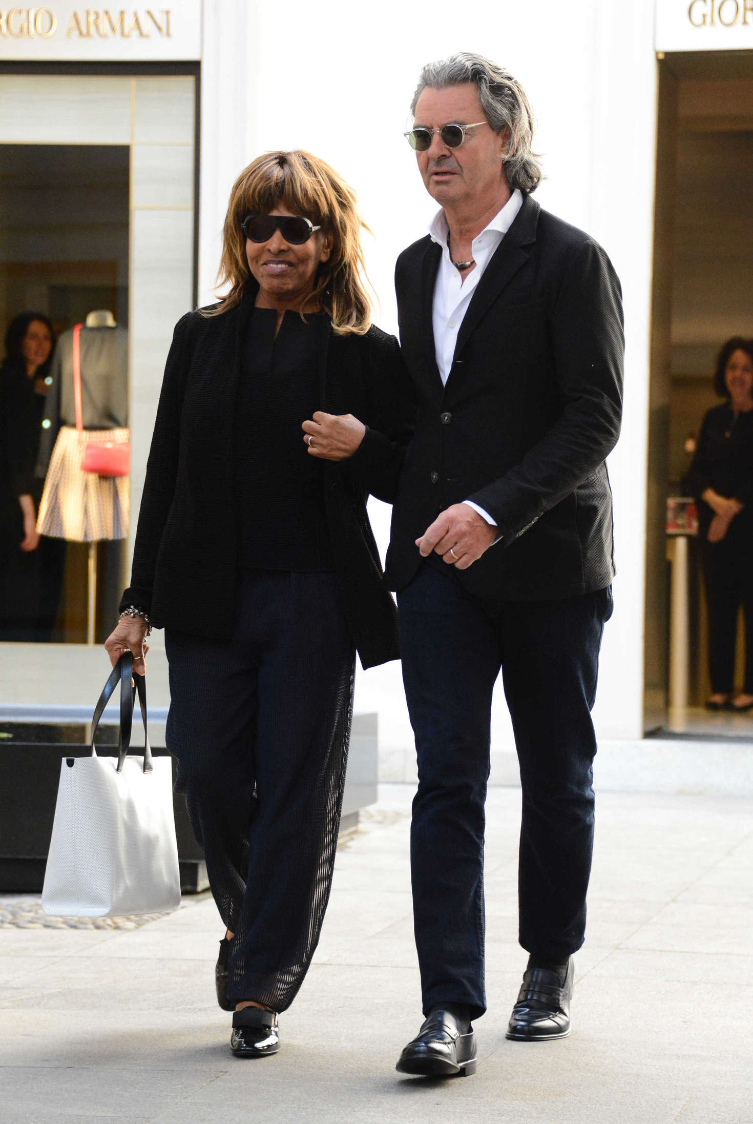 Tina Turner with her husband Erwin Bach on holiday in