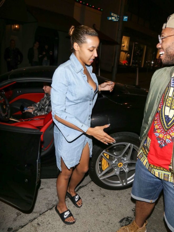 Tinashe at Craig's Restaurant in Los Angeles