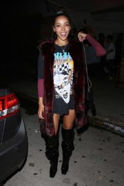 Tinashe - Leaving Delilah nightclub in West Hollywood