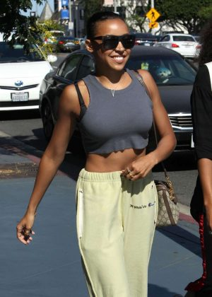 Tinashe out for lunch in Beverly Hills