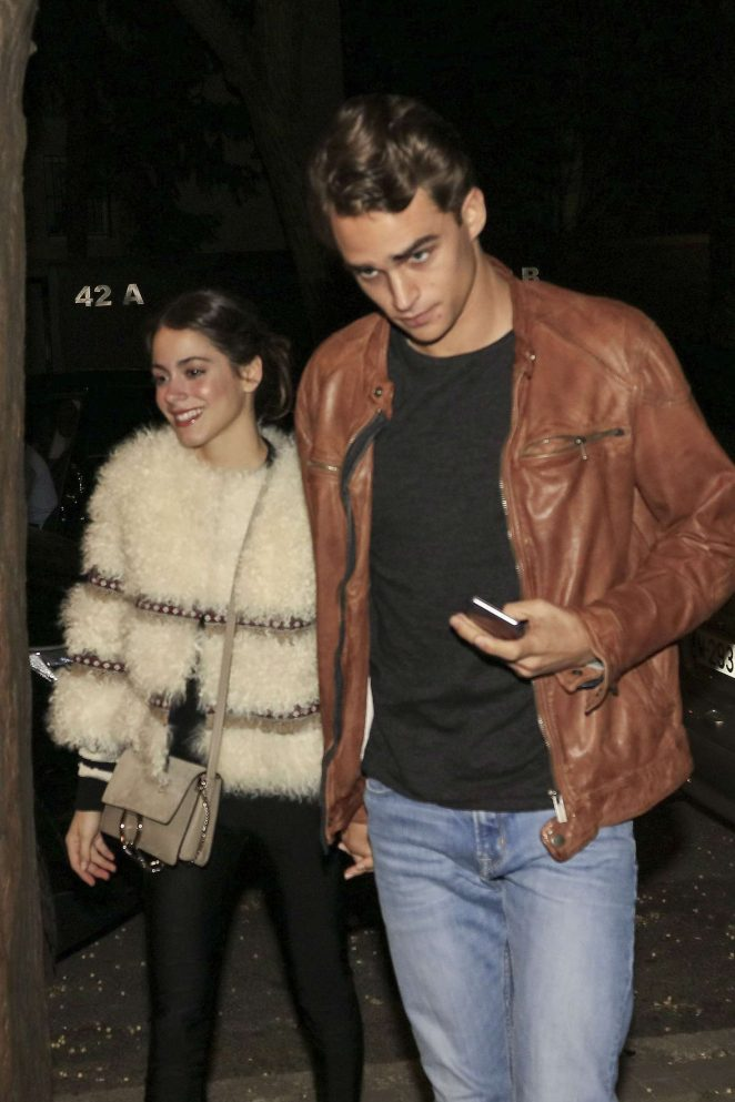 Tini Stoessel and Pepe Barroso Silva out in Madrid