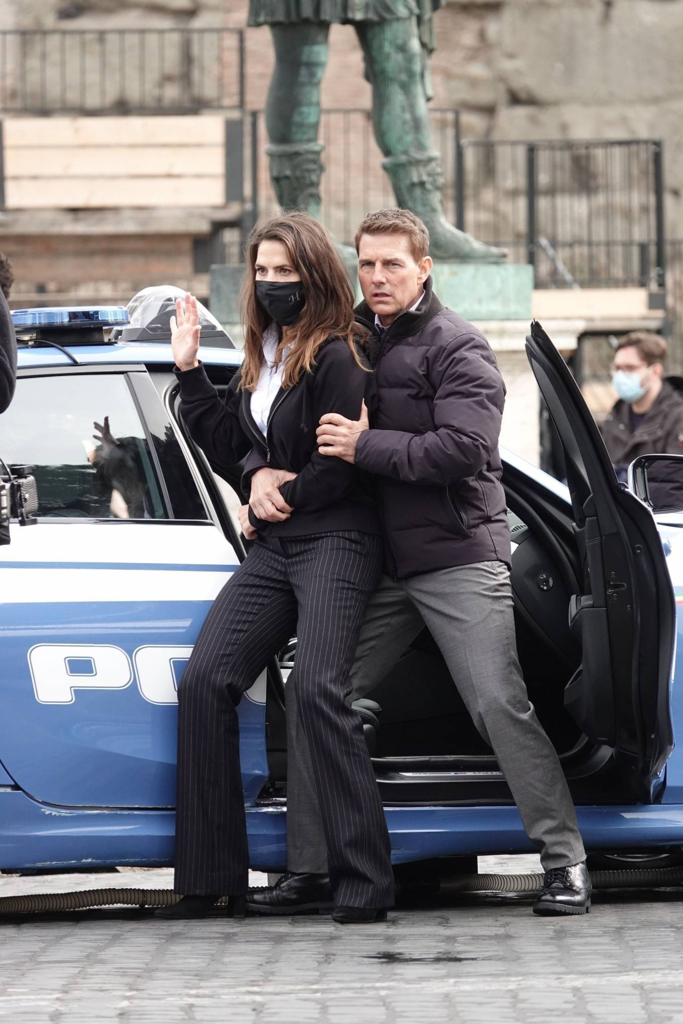 Tom Cruise and Hayley Atwell - Filming 'Mission Impossible' in Rome