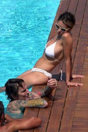 Tommy Lee and his wife Brittany Furlan were seen on holiday in Capri