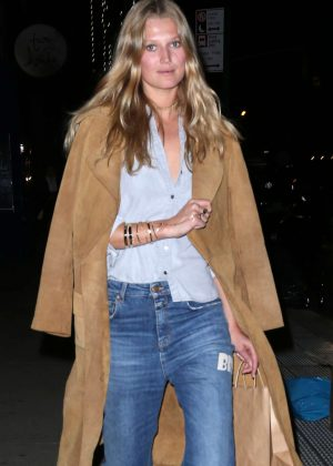 Toni Garrn in a casual look for a night out in New York