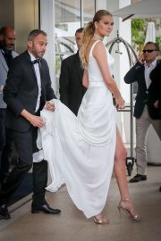 Toni Garrn - Leaves the Martinez Hotel in Cannes