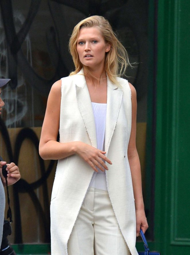 Toni Garrn out and about in Soho