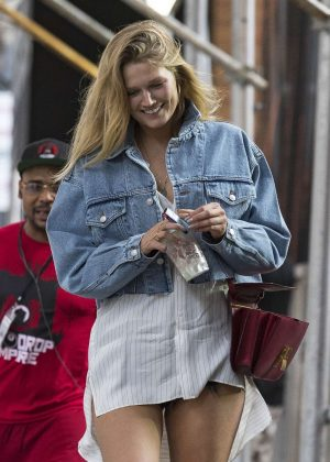 Toni Garrn out in New York