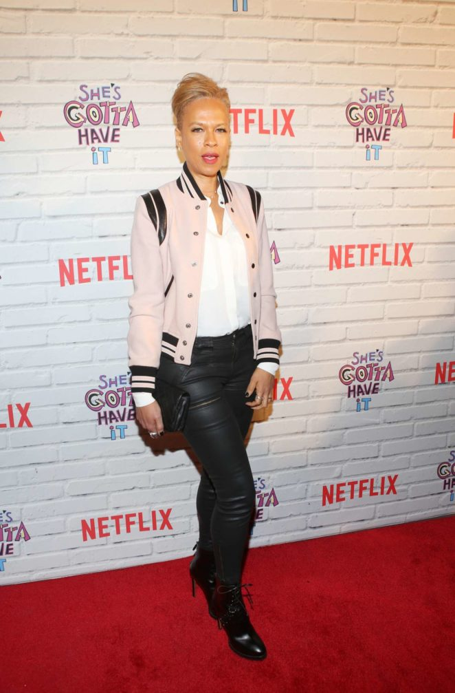 Tonya Lewis Lee - 'She's Gotta Have It' Premiere in New York