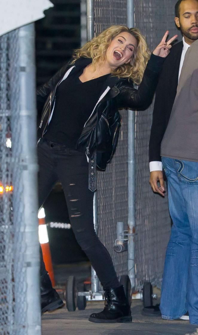 Tori Kelly - Arrives at Jimmy Kimmel Live! Show in LA
