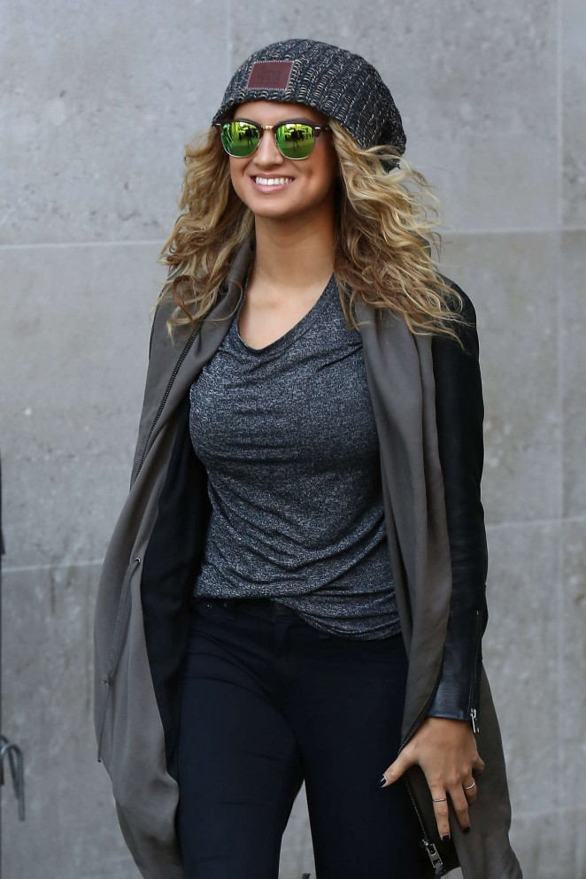 Tori Kelly - Leaving the BBC Radio 1 studios in London
