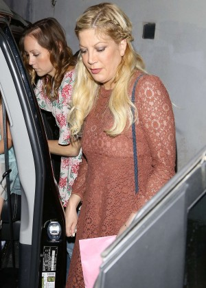 Tori Spelling at Au Fudge in West Hollywood