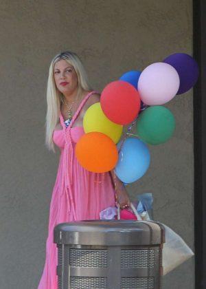 Tori Spelling - Clebrates Her 45th Birthday At Garland Hotel In Los Angeles