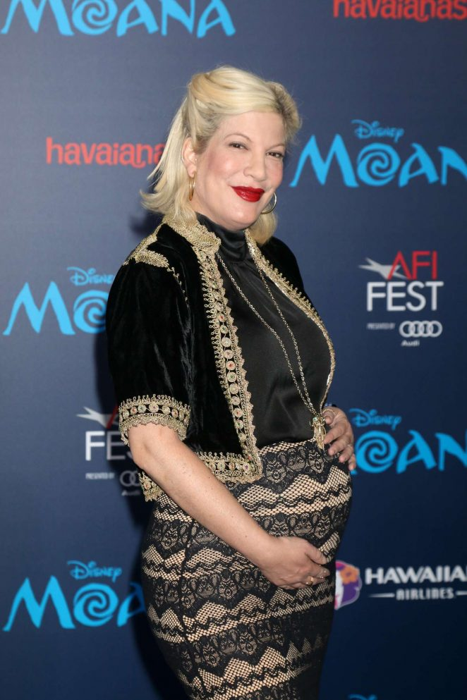 Tori Spelling – 'Moana' Premiere in Los Angeles
