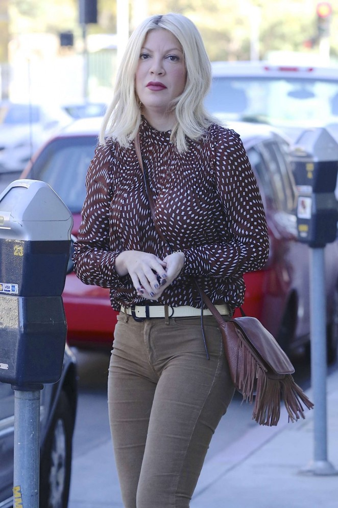 Tori Spelling out and about in Los Angeles