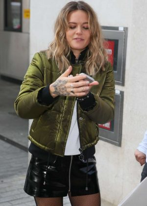 Tove Lo in Short Skirt at BBC Radio 1 Studios in London